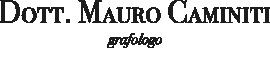 Dott. Mauro Caminiti - Consulente grafologo